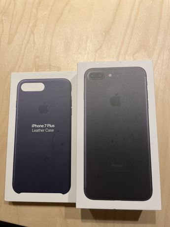 Iphone 7 plus czarny, nowa bateria, komplet akcesoriów
