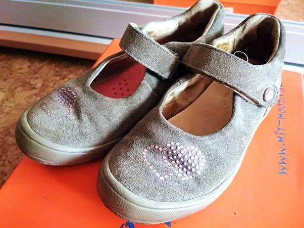 Наши туфли-балетки Elephanten кожа замша