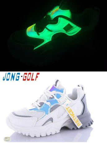 Рефлективные белые кроссовки Jong Golf 10161 Размеры 33- 37