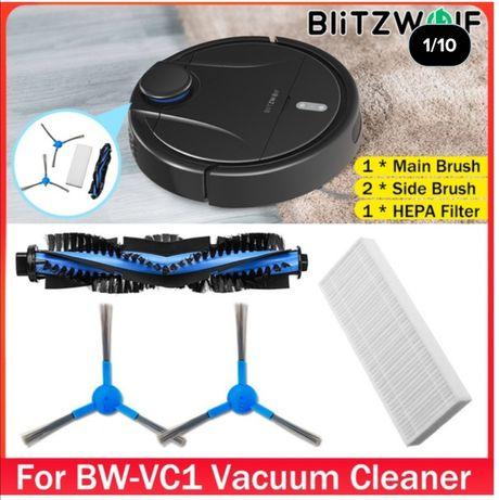 Escovas e filtro hepa p/ aspirador robot blitzwolf vc1. Envio incluído