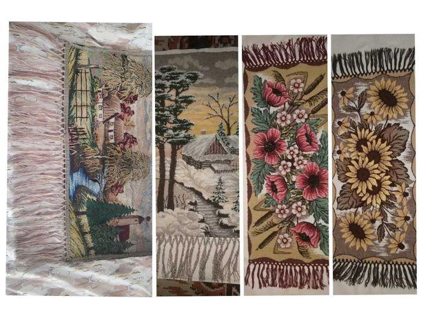 Kilim - obrazy na ścianę wyszywane ręcznie tkane - PRL antyk