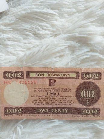 BON TOWAROWY 2 centy z 1979 roku