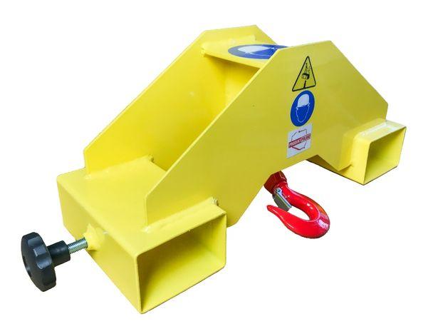 Uchwyt z hakiem zawiesie trawers do wózka widłowego - DS System