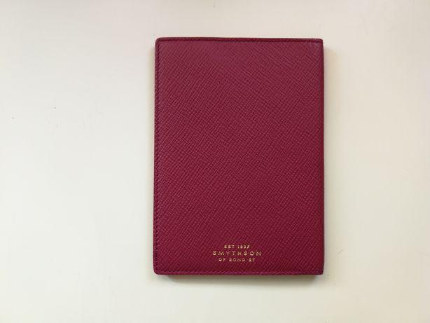 Passaporte Smythson of Bond St Porta Documentos de luxo (Pele genuína)