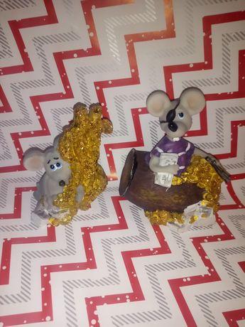 Мышь символ года копилка и статуэтка. Новый.