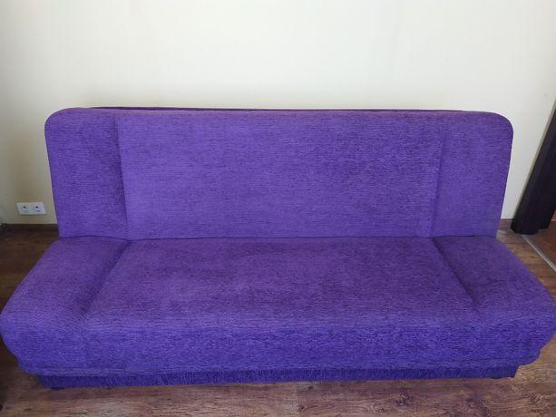 Kanapa rozkładana wersalka tapczan kolor fioletowy