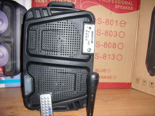 BLUETOOTH БУМБОКС с МР3 micro SD,USB,FM+радио микрофон+пульт ДУ,60Ватт