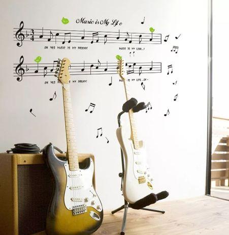 Muzyka naklejka na ścianę długość 150cm