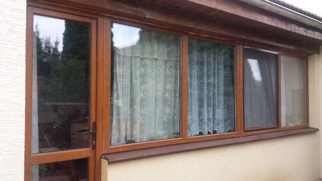 Окна и двери из евробруса б/у.