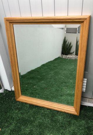 2x Espelhos em madeira maciça