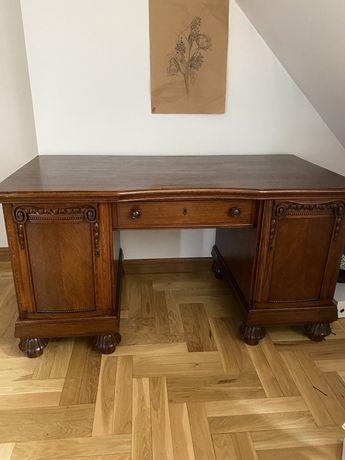 Drewniane biurko antyk