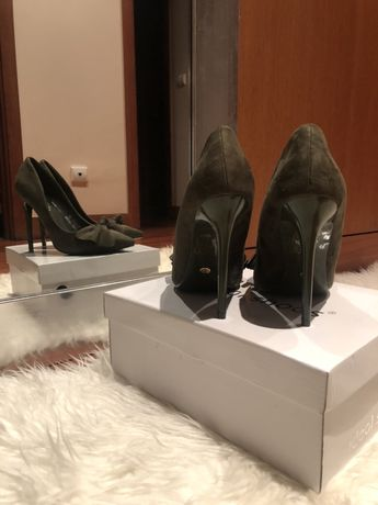 Sapato stiletto verde