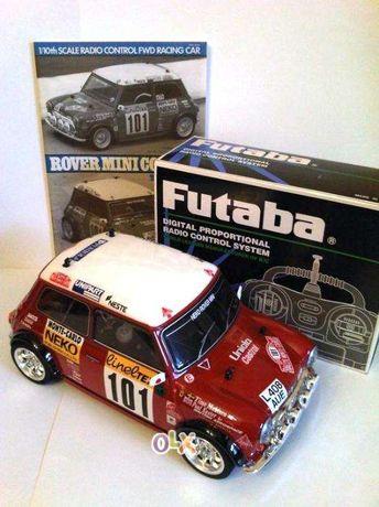 Fiat Abarth Berlina Corsa e Rover Mini Cooper 1/10 telecomandados