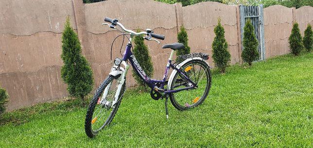 "Rower miejski 24"" Pegasus dynamopiasta biegi Aluminiowy Led"