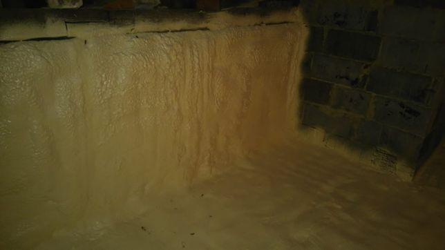 Ocieplenie stropu dachu płaskiego pianką PUR zamknięto - komórkową