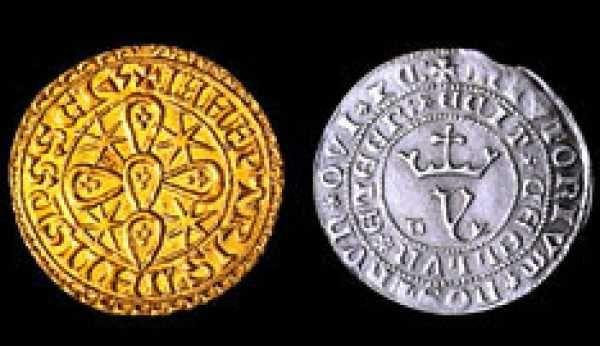 Moedas dos Reis. Colecções Philae.40 moedas prata e prata banhada ouro