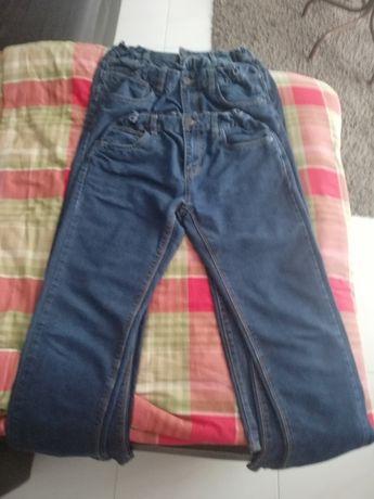 Calças Ganga Rapaz Azul Denim veste dos 14 16 anos - T 164 - 3 Pares