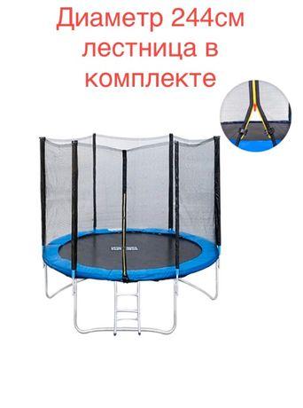Батут спортивный Profi Action сетка, лестница, защита