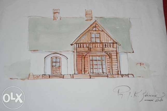 Sprzedam niepowtarzalny indyw. projekt domu 123m+osobny garaż