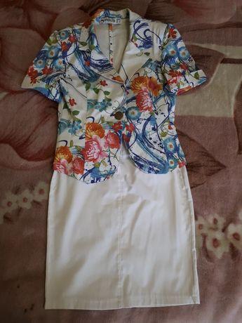 Летний костюм пиджак+юбка