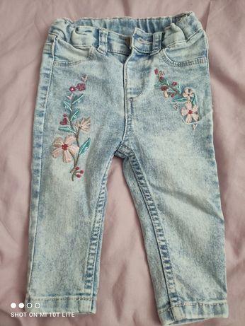 Spodnie dżinsowe dziewczęce 74
