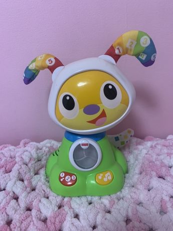 Интерактивная игрушка Fisher-Price Танцующий щенок робота Бибо на русс