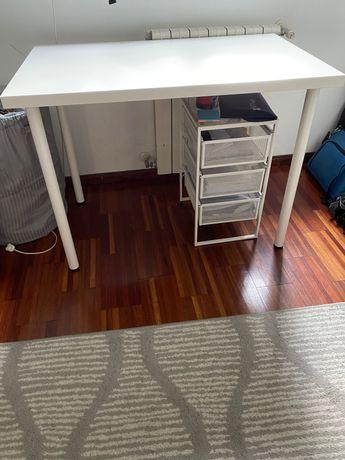 Conjunto mesa branca+estante