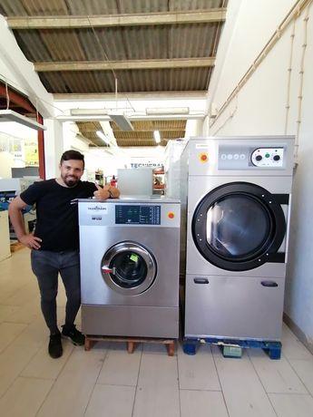 Lavandaria self service / máquina de lavar roupa industrial / secador