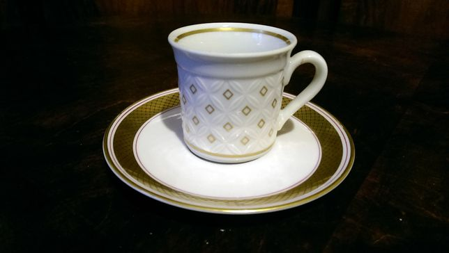 Filiżanka porcelana Thun biel złoto