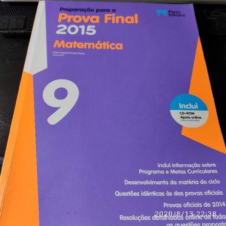 Livro Preparação para Exame de Matemática 9º Ano, com CD