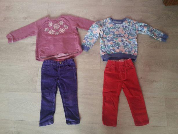 Ubranka bluzki spodnie 86-92