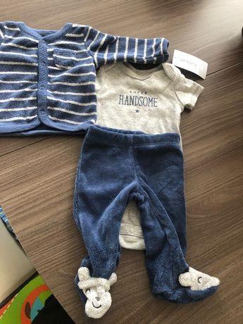 Новый набор бодик штанишки кофточка