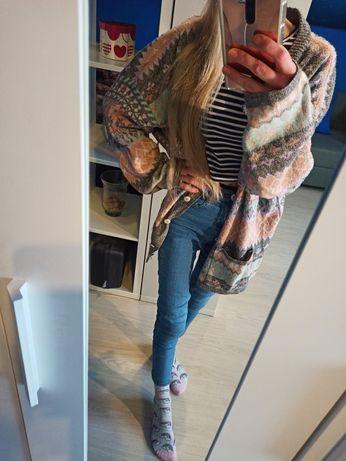 Sweter vintage patchwork, idealny na wiosnę