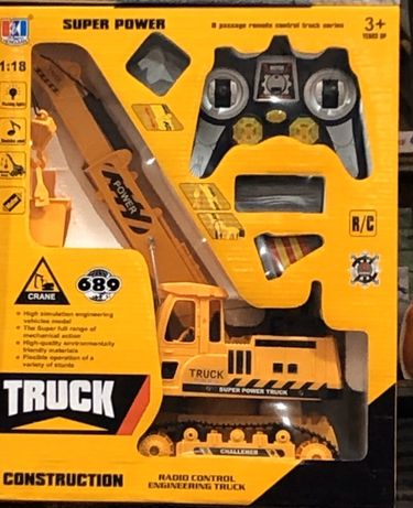 Truck super power Подъемный кран на радиоуправлении (свет, звук)