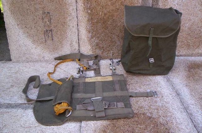 Pojemnik ze stelażem na spadochron z torbą