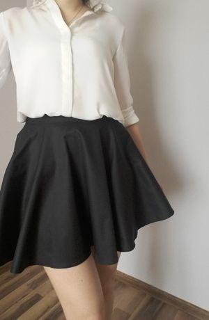 Czarna spódniczka z koła mini 34 xs nowa