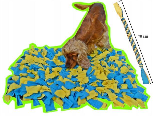 Mata/zabawka węchowa dla psa+szarpak i smaki gratis, bardzo duża 80x60