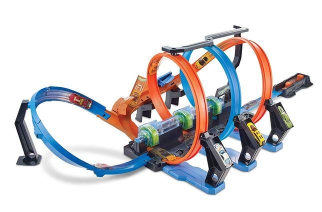 трэк Hot Wheels Corkscrew Crash Track Set трек Хот Вилс виражи оригина