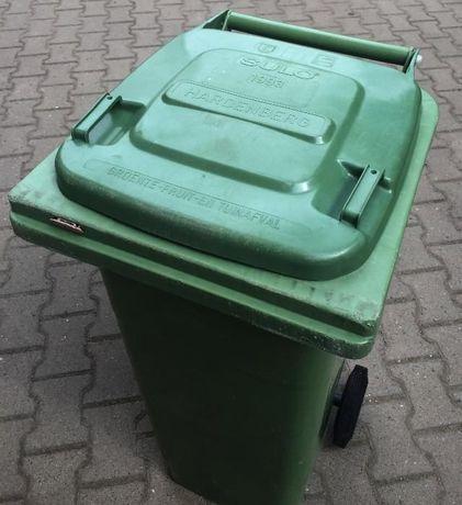120L Pojemnik Kubeł Kosz na śmieci odpady NOWY Zielony