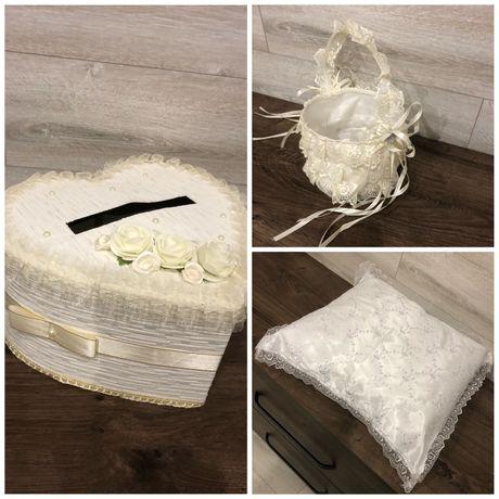 Весільна коробка для грошей, весільна подушка, весільні аксесуари