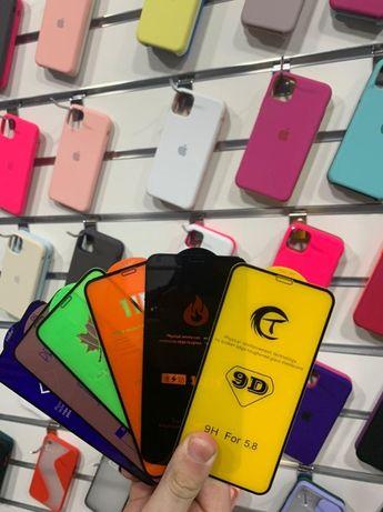 Захисне Скло на айфон Стекло 5д 5D 6д 6D iPhone 6 6s 7 8 plus 11 XR XS