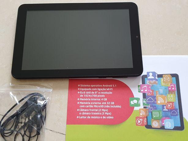 """Tablet 8"""" com 4GB memória"""