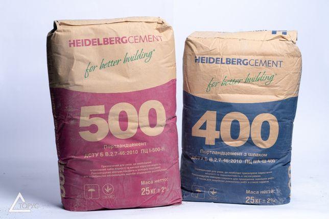 Цемент марка 400, 500 Кривой Рог-Завод, марка II/А-Ш-400 СИНИЙ (25кг)