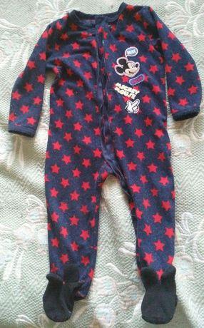 Флисовый комбинезон(пижама), Disney, 86-92 размер