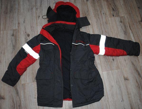 Очень теплая рабочая защитная куртка с капюшоном женская немного бу.