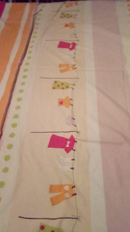 cortinados e capa de edredon ,como novo para criança