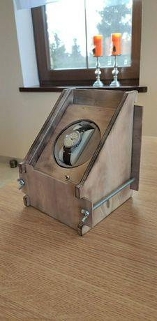Rotomat ręcznie robiony 1 zegarek drewniany