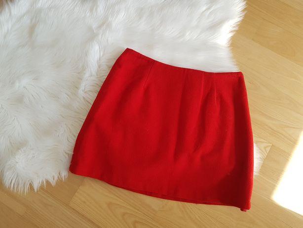 Wełniana spodnica czerwona Warehouse M 38