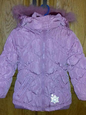 Зимова Куртка та напівкомбінезон зимовий костюм дівчинк р.92 3-5 років