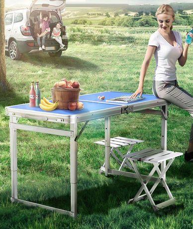 Усиленный стол для пикника+4 усиленных стульчика+сумка переноска